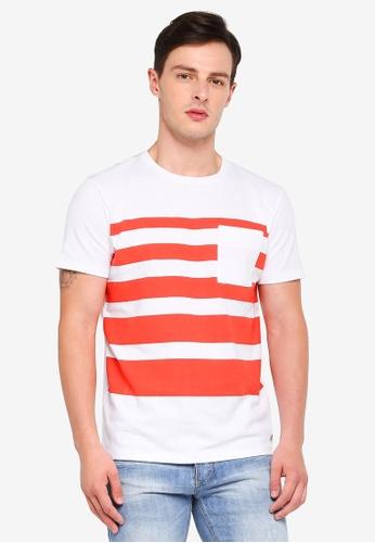 ESPRIT 橘色 短袖T恤 5D43CAAA5084D4GS_1