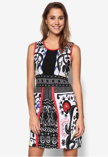 Bernardino 印花直筒式洋裝,esprit tote bag 服飾, 洋裝