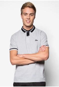 Contrast Lining Collar Polo Tee