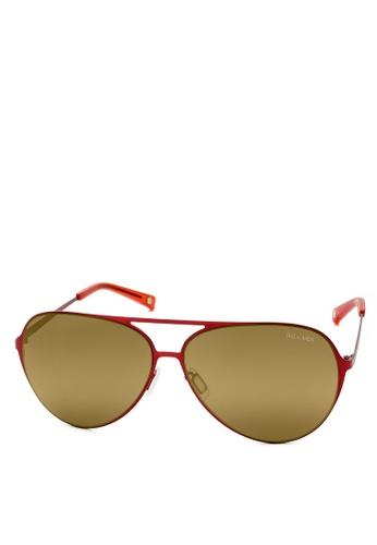 HEX EYEWEAR red Aviator - Wilbur W. - Sunglasses - Italy Design HE671AC2V1LNHK_1