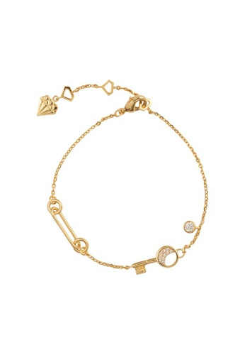 Wanderlust + Co gold Crescent Key Gold Bracelet 507CDACFF00A0DGS_1