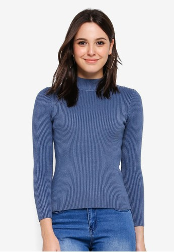 BYN blue Knitted Top F4208AAFAD980AGS_1