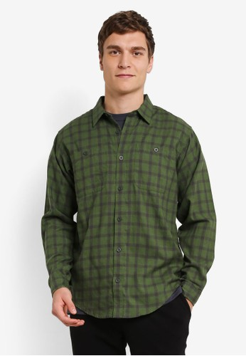 Patagonia green Long Sleeve Pima Cotton Shirt PA549AA0RQEPMY_1