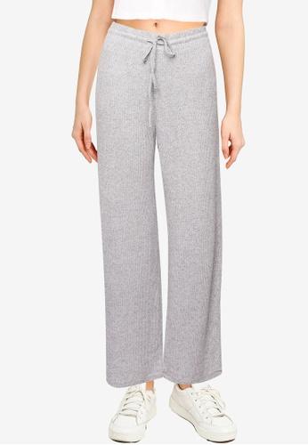 GAP grey Softspun Ribbed Wide-Leg Pants 82307AA0825623GS_1