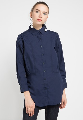 Miyoshi Josei navy 19Bm Shirt MI116AA0WEY3ID_1