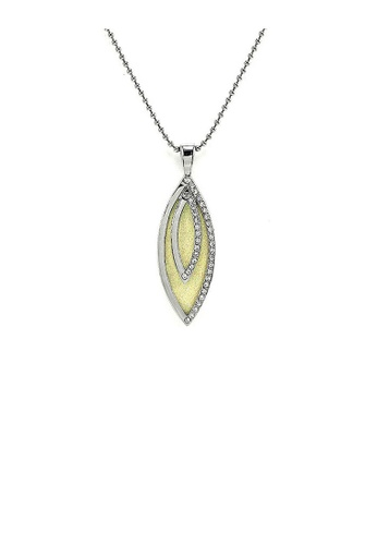 Glamorousky silver Glistering Olivary Pendant with Silver Austrian Element Crystals and Necklace 1AE41ACC2E1C68GS_1