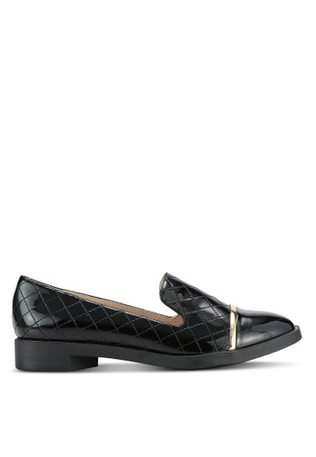 BETSY black Glossy Loafers BE207SH0REPUMY_1