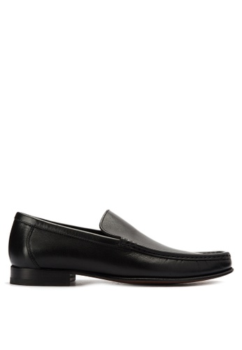 A. Testoni black Men's Casual Dress Shoes Classic Loafers AT299SH0K4C0PH_1