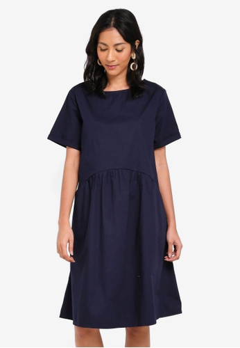 OVS blue Woven Dress With Pockets D9A3AAAFF1A260GS_1