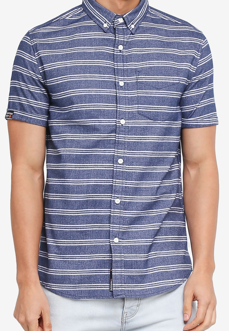 Vias Superdry Academy Sails Stripe Shirt wq0RHT