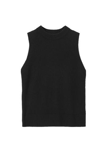 Cos black Cashmere Plain Knit Vest DA232AA111F2FAGS_1