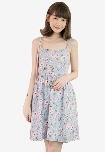 Eyescream blue Floral Sundress BFFDFAA3D38368GS_1