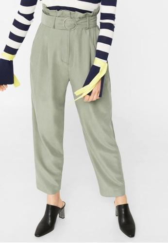 Mango green Ring Modal Trousers MA193AA18GCBMY_1