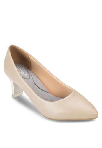 尖頭撞色高跟鞋, 女鞋, esprit holdings厚底高跟鞋