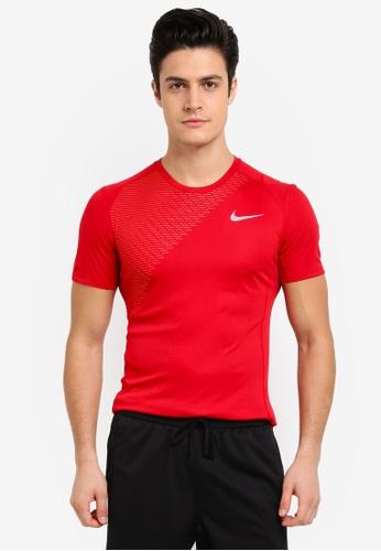 Nike red Men's Nike Dry Miler Running Top NI126AA0STUWMY_1