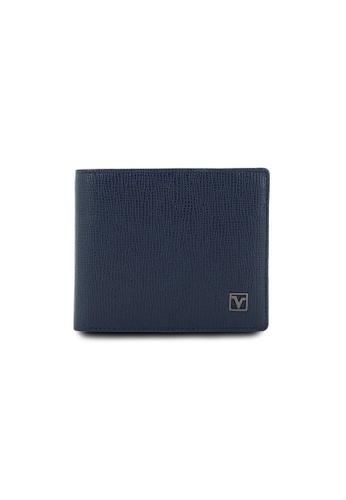 Valentino Rudy blue Valentino Rudy RFID Secure Leather Bi-fold Wallet VA677AC0GNORSG_1