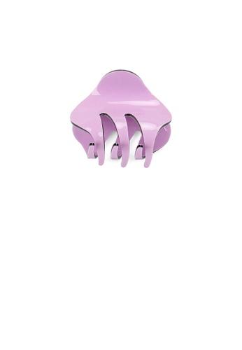 Glamorousky silver Simple and Cute Purple Geometric Hair Claw A0053ACCF5C5E7GS_1
