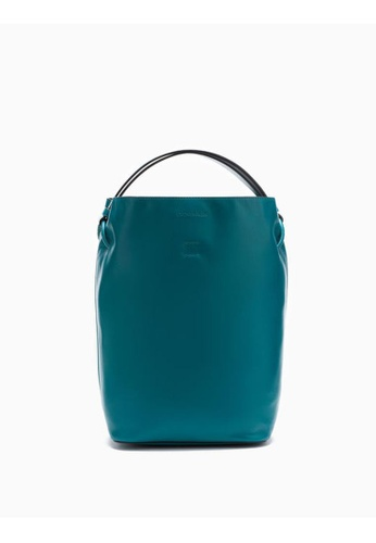 Calvin Klein green Leather Bucket Bag 45E81ACACAA0A9GS_1