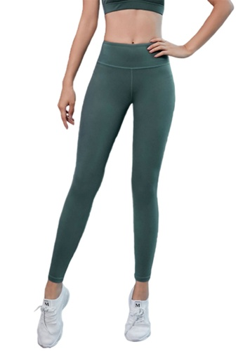 B-Code green ZYG3041-Lady Quick Drying Running Fitness Yoga Sports Leggings -Green 81067AA5136805GS_1