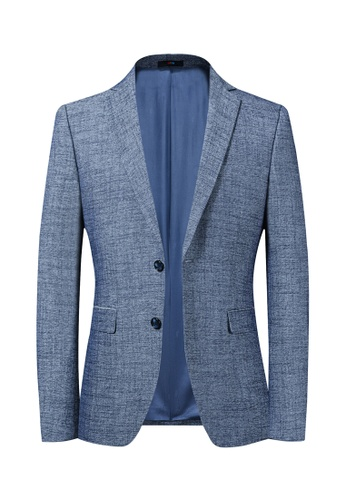 HAPPY FRIDAYS Slim Casual Textured Suit Jacket 2035 8CAB9AA31CD156GS_1