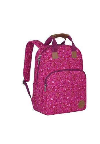 LASSIG Lassig Backpack Diaper Bag(Paisley Pink) 18B90KCDC6CFFDGS_1