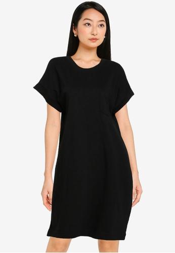 GAP black Pocket Tee Dress A5A8BAA9669242GS_1