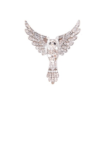 Glamorousky white Fashion Bright Eagle Brooch with Cubic Zirconia 8E543ACEFFC203GS_1