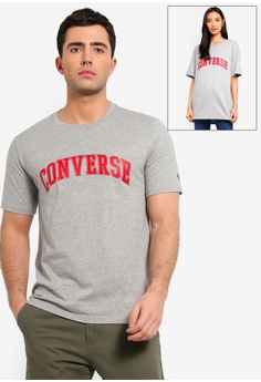 cd5ee6d4b0a Converse grey Converse All Star Collegiate Text Short Sleeve Tee  D3A3DAA5A83FAAGS 1