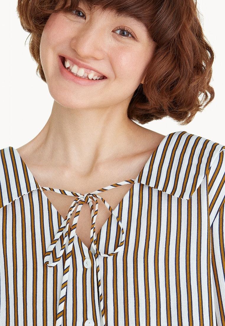 Sailor Shirt Orange Neck Orange V Collar Pomelo UFqzq