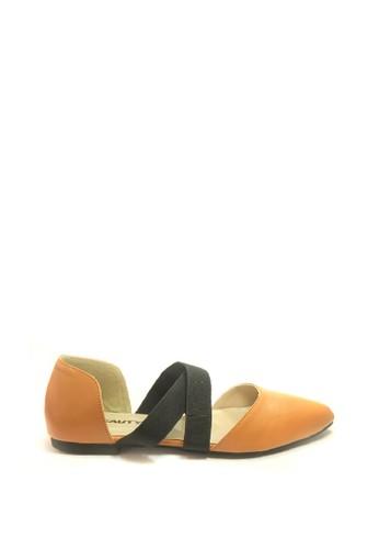 Beauty Shoes brown Beauty Shoes 1434-895RSA Flat Camel 3555BSH80D8E5CGS_1