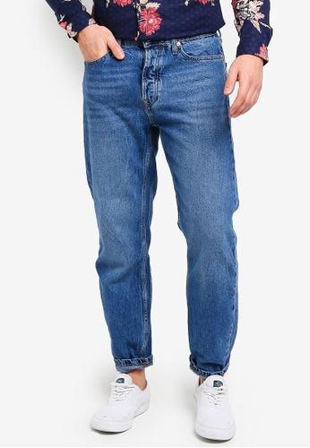 Topman 藍色 直筒牛仔褲 55913AA11F3DE6GS_1