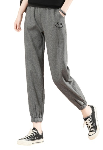 A-IN GIRLS grey Elastic Waist Casual Trousers 2588EAA8C0BA97GS_1