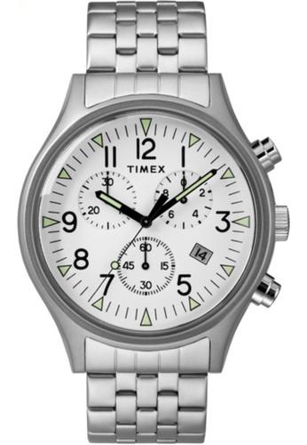 Timex silver Timex MK1 SST Chrono Bracelet White Dial – TW2R68900 41B3CACBBAAB05GS_1
