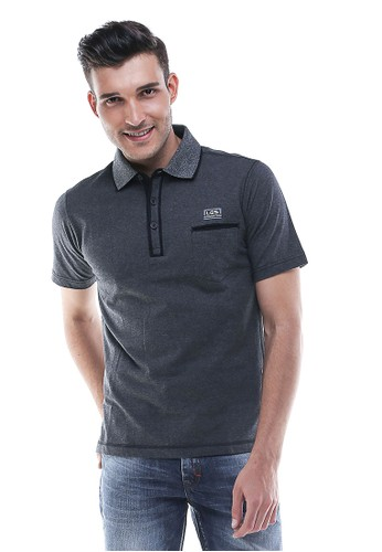 LGS - Regular Fit - Kaos Polo - Model Casual - Abu