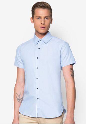 經典棉質短袖襯衫,esprit outlet 香港 服飾, 襯衫