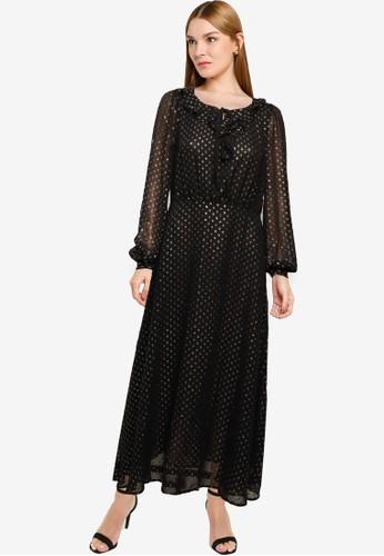 Mango black Metallic Details Dress 0353BAAFF44604GS_1