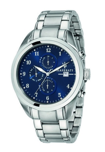 Maserati silver Traguardo Quartz Watch R8853112505 Silver Metal Strap 1B3D2AC3803FC2GS_1