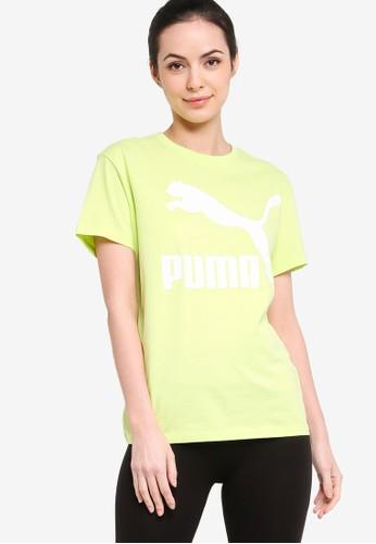 PUMA green Classics Logo Women's Tee 65A29AA5AC0315GS_1