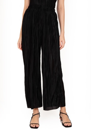 ZALORA WORK black Co-Ord Pleated Pants D4B93AA5141D31GS_1