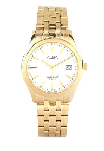 Alba gold Alba Round Watch Axhk82 White AL383AC04VITID_1
