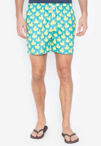 Emissus yellow and blue Rubber Ducky Shorts 02881USCB70CC1GS_1