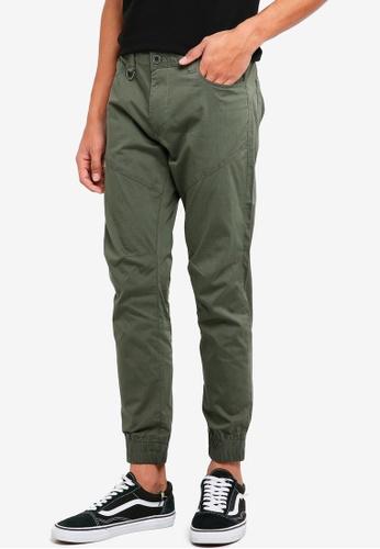 Sparrow Green 綠色 休閒縮口長褲 B79AAAA20DD8B8GS_1