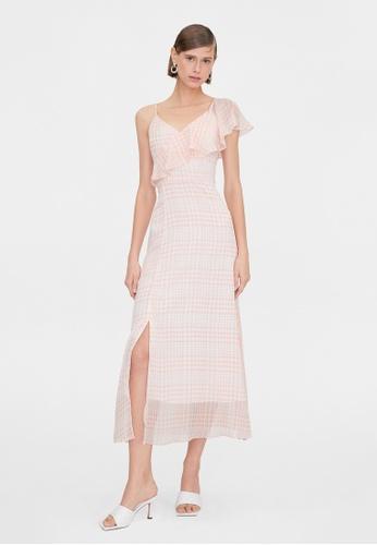 Pomelo pink Maxi Gingham Side Ruffle Dress - Pink 9532BAA3BC7F7FGS_1