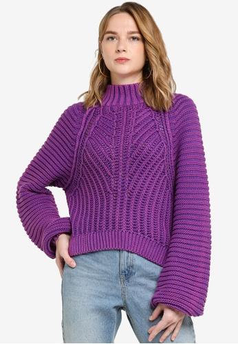 Free People purple Sweetheart Sweater AE1C3AA6B8B834GS_1