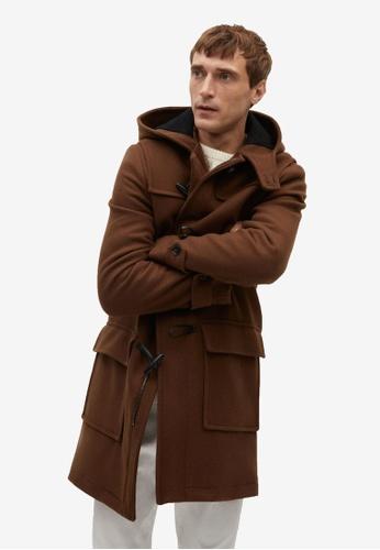 Mango Man orange Long Recycled Wool Coat C0F18AA8DFB83CGS_1