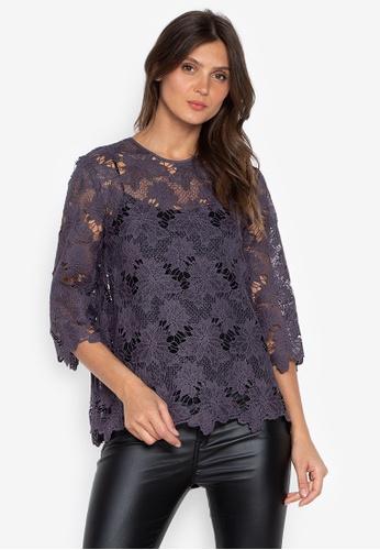 DEBENHAMS purple Rjr.John Rocha - Rjr Chunky Essential Lace Top 1A855AA75A6880GS_1