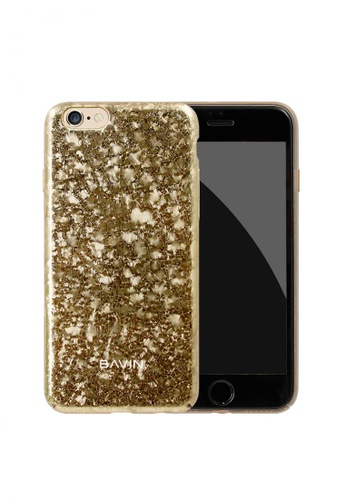 BAVIN gold Broken Glass Hard Case for iPhone 7 97AB0ACFD46F0AGS_1