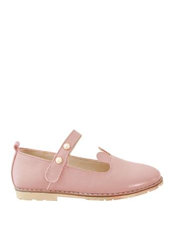 Twenty Eight Shoes 粉紅色 VANSA 時尚真皮鞋   VSK-F171 62883KSAE36749GS_1