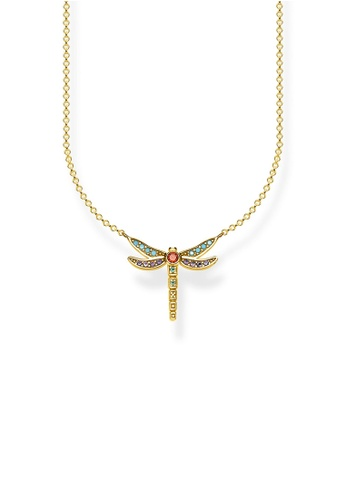 """THOMAS SABO gold necklace """"dragonfly small"""" D7851AC679F477GS_1"""