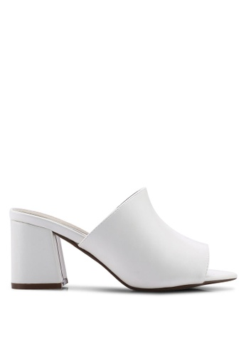 9a62971568 Shop MISSGUIDED Mid Flared Heel Peep Toe Mules Online on ZALORA Philippines